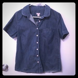 J Crew Denim Button Up